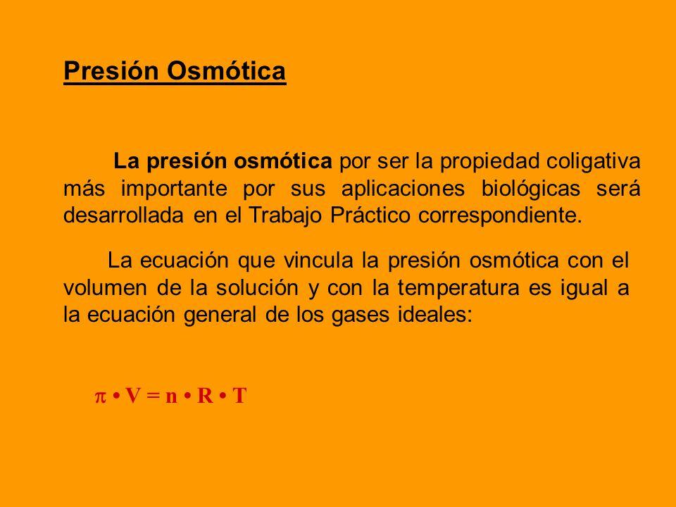 Para calcular la temperatura de congelación de una solución: Tc = Tcs - Tc Tc= temperatura de congelación de la solución Tcs = temperatura de congelac