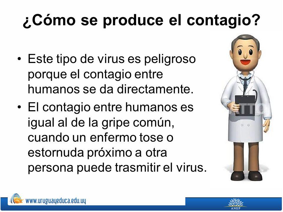 ¿Cómo se produce el contagio? Este tipo de virus es peligroso porque el contagio entre humanos se da directamente. El contagio entre humanos es igual