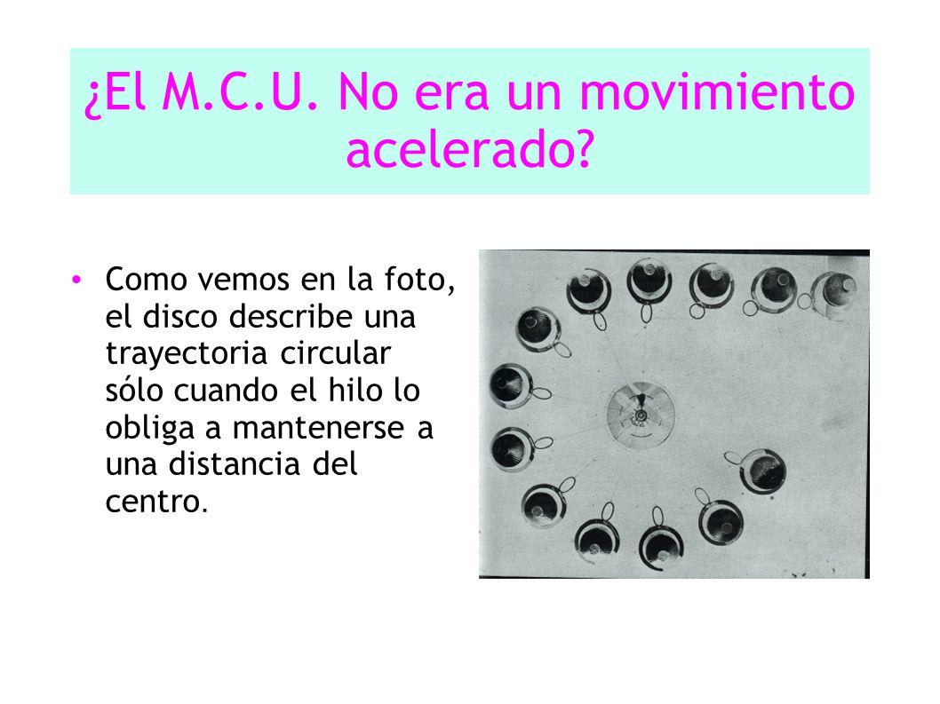¿El M.C.U.No era un movimiento acelerado.