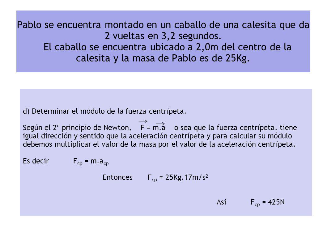 c) Determinar el módulo de la aceleración centrípeta. Primero, veremos como relacionamos la aceleración centrípeta, con la velocidad lineal y el Radio