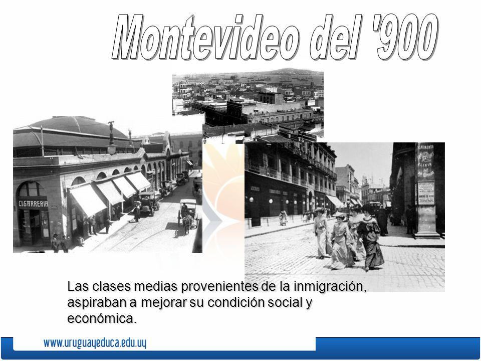 Las clases medias provenientes de la inmigración, aspiraban a mejorar su condición social y económica.