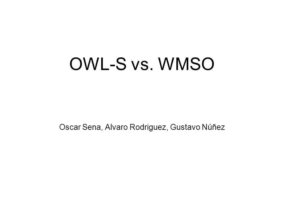OWL-S vs. WMSO Oscar Sena, Alvaro Rodriguez, Gustavo Núñez