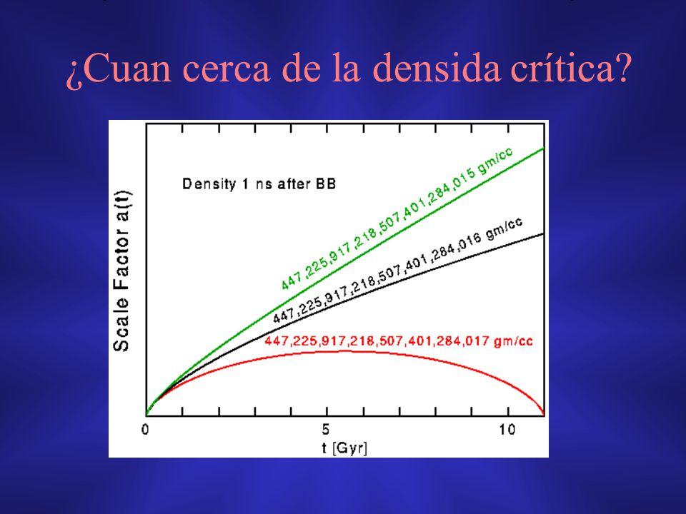 ¿Cuan cerca de la densida crítica?