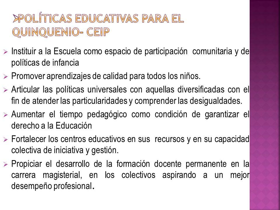 La Misión fundamental de la Escuela es generar aprendizajes de calidad para todos los niños.