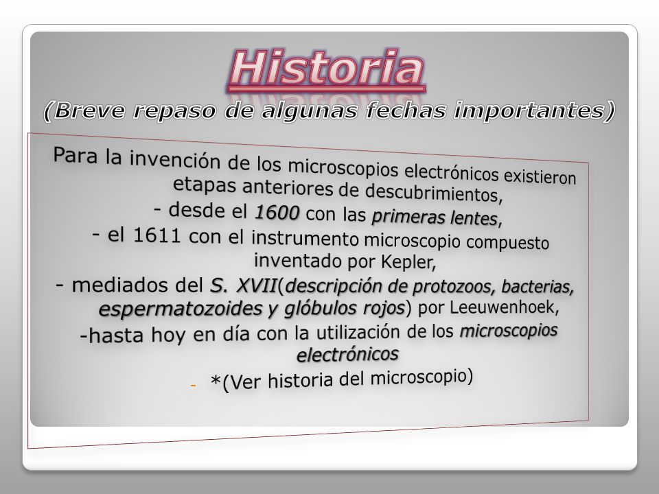 Algunos microscopios antiguos: Primeras lentes: