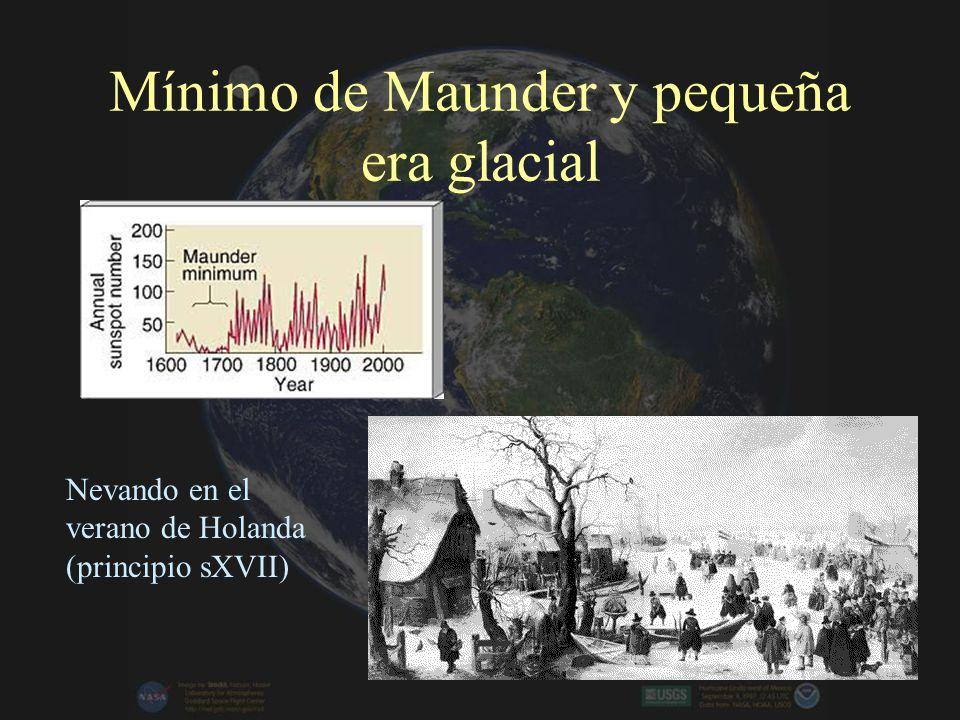 Mínimo de Maunder y pequeña era glacial Nevando en el verano de Holanda (principio sXVII)