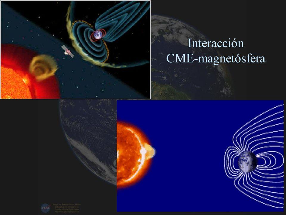 Interacción CME-magnetósfera