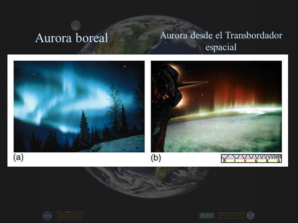 Aurora boreal Aurora desde el Transbordador espacial