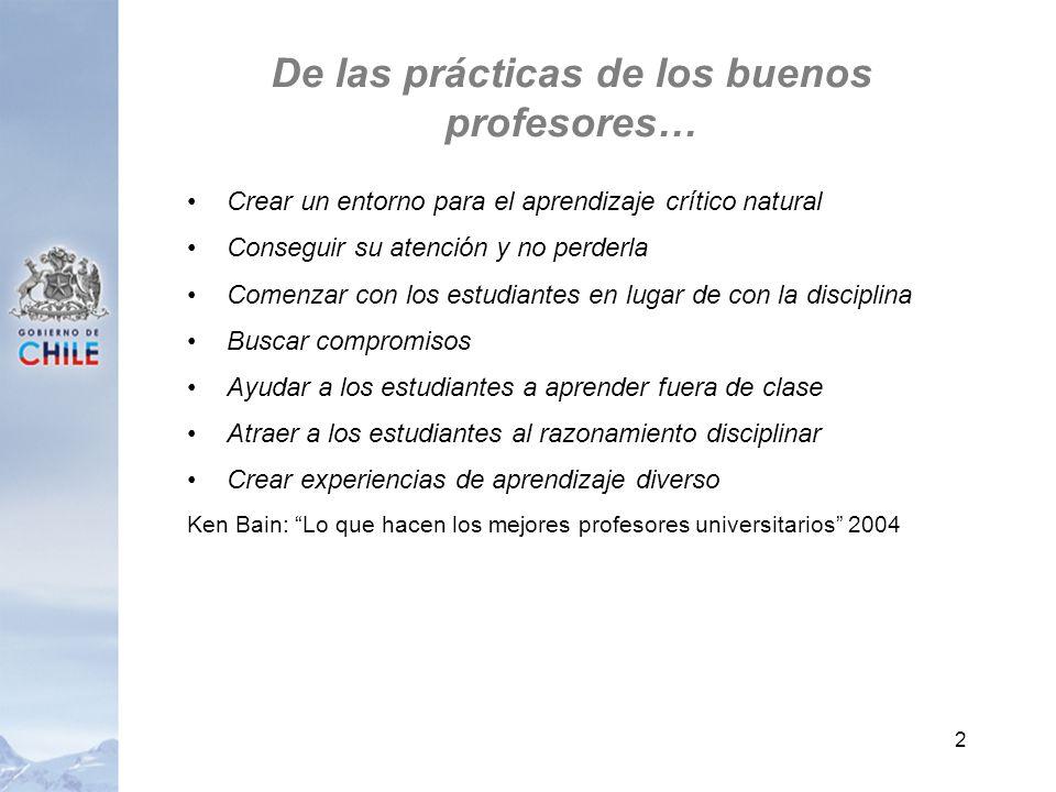 De las prácticas de los buenos profesores… Crear un entorno para el aprendizaje crítico natural Conseguir su atención y no perderla Comenzar con los e