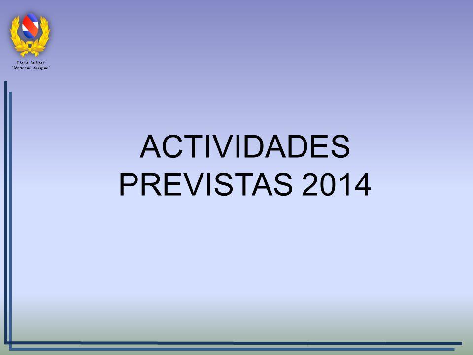 ACTIVIDADES PREVISTAS 2014 Liceo Militar General Artigas