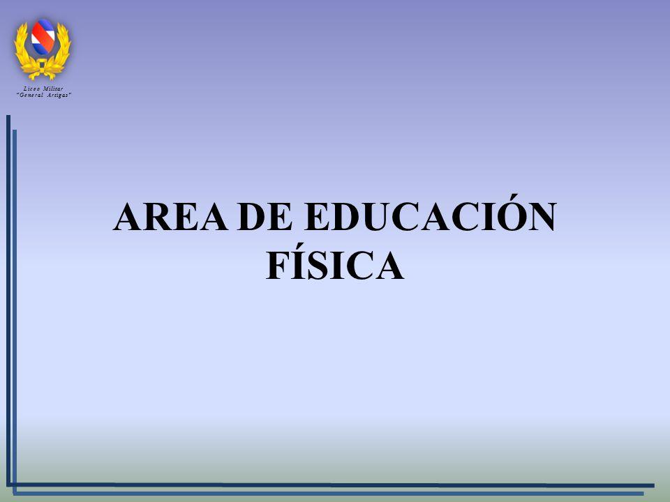 AREA DE EDUCACIÓN FÍSICA Liceo Militar General Artigas