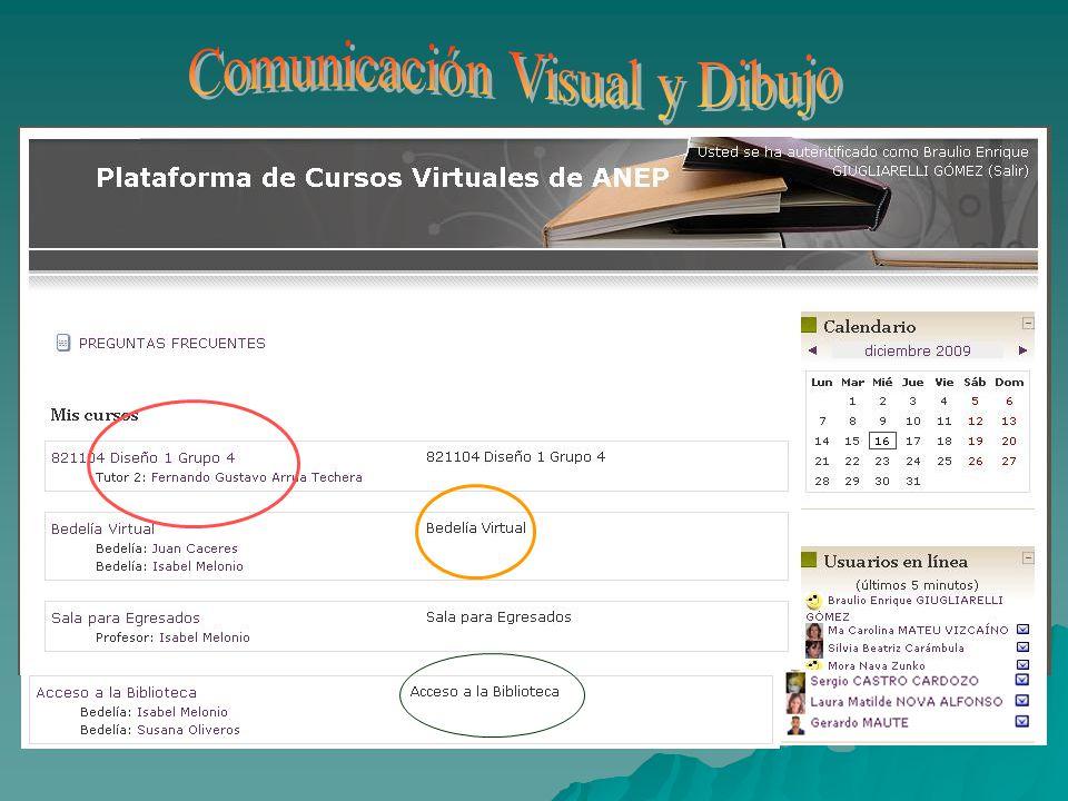 Ésta es la ESTRUCTURA común a TODAS las ESPECIALIDADES (contenido, foro, correo y calendario) Volver a otras Especialidades