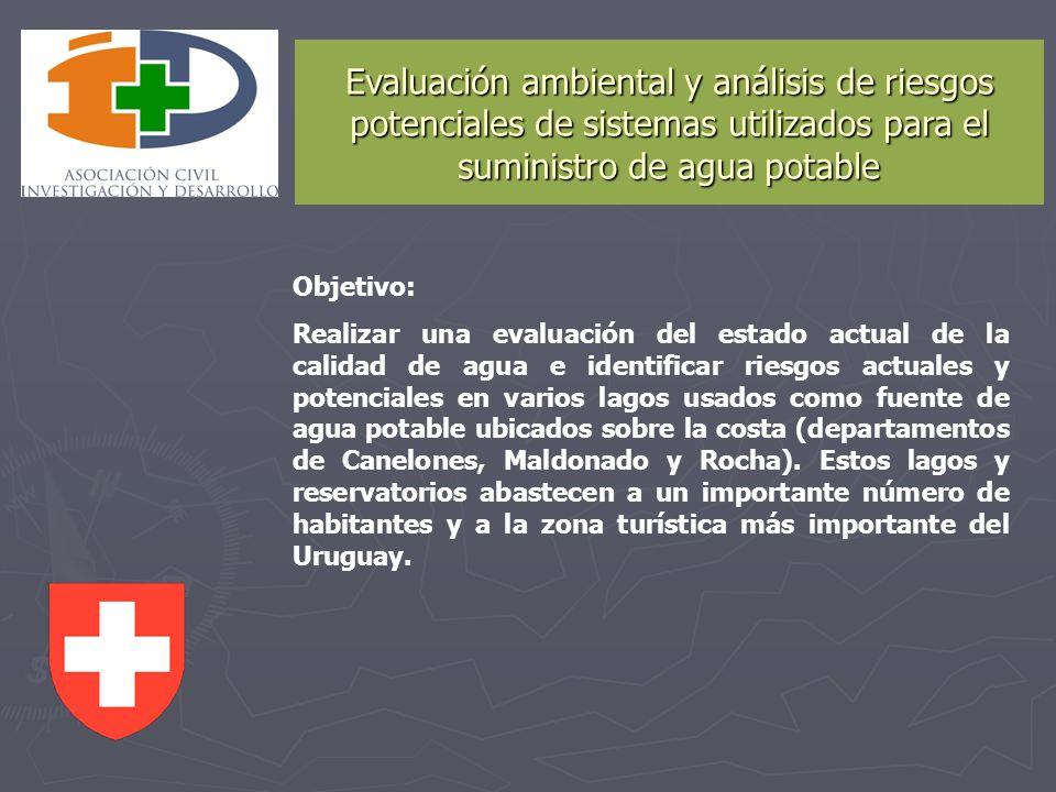 Evaluación ambiental y análisis de riesgos potenciales de sistemas utilizados para el suministro de agua potable Objetivo: Realizar una evaluación del