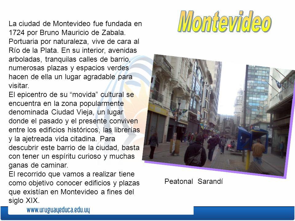 La ciudad de Montevideo fue fundada en 1724 por Bruno Mauricio de Zabala. Portuaria por naturaleza, vive de cara al Río de la Plata. En su interior, a