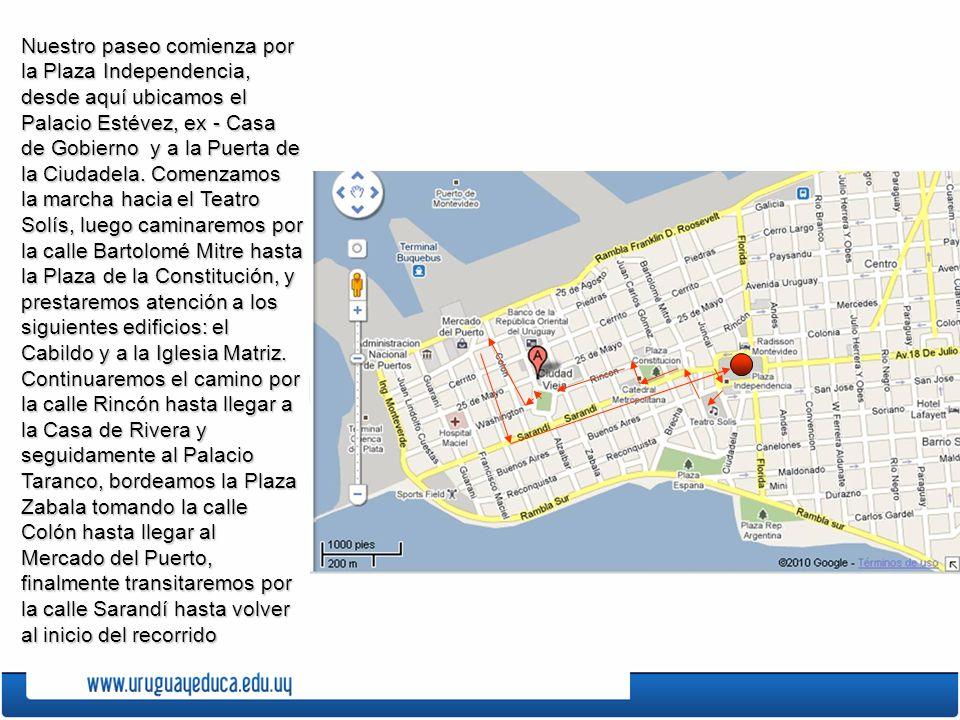 Pulsa sobre los números para obtener información de los edificios y plazas del recorrido histórico.