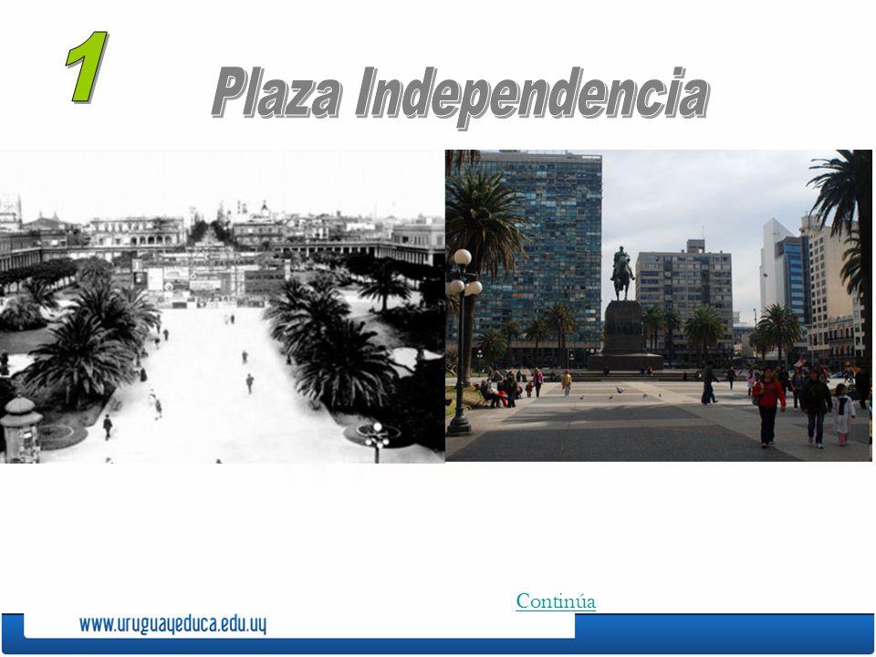 Panorama de la Plaza Independencia en Montevideo, Uruguay La Plaza Independencia se ubica en la ciudad de Montevideo, Uruguay, justo en el límite entre la Ciudad Vieja y la zona del Centro, lo que antiguamente se conocía como Ciudad Nueva.