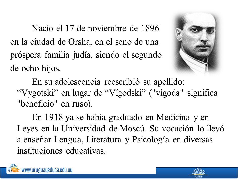 Nació el 17 de noviembre de 1896 en la ciudad de Orsha, en el seno de una próspera familia judía, siendo el segundo de ocho hijos.
