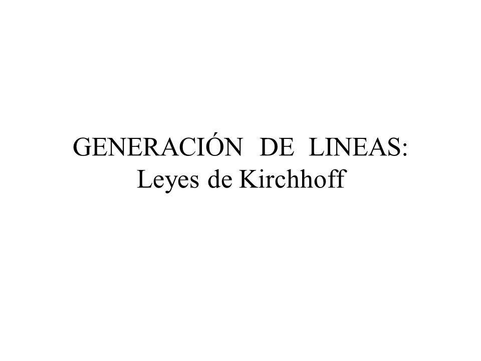 GENERACIÓN DE LINEAS: Leyes de Kirchhoff