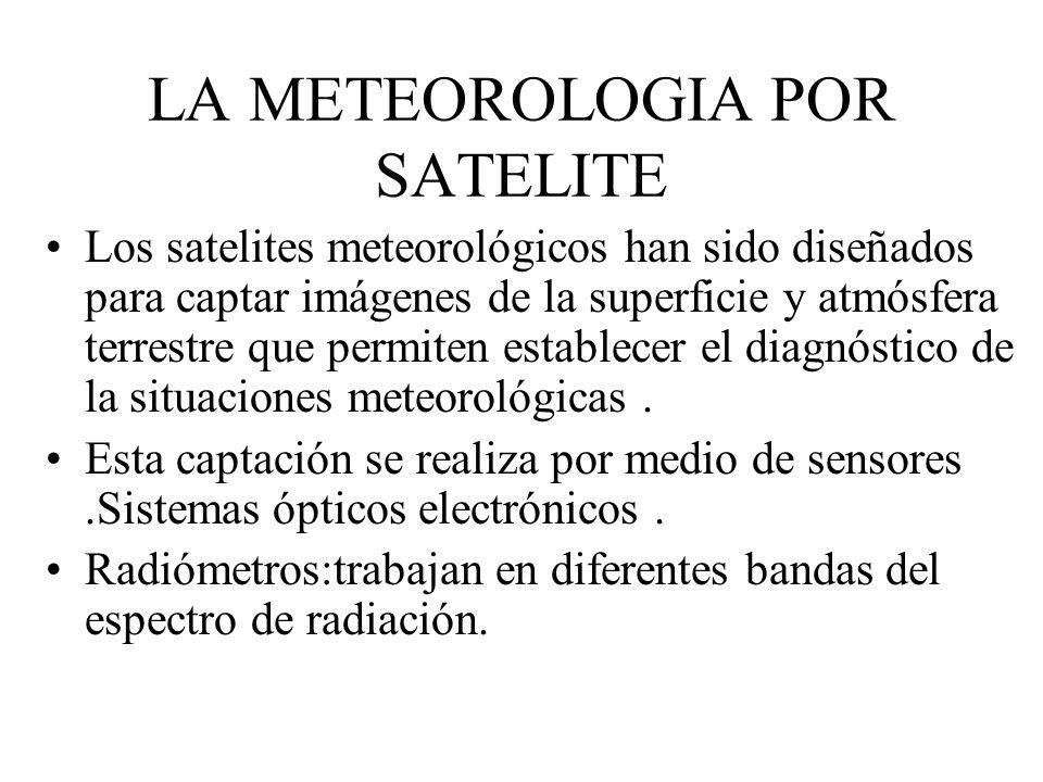 LA METEOROLOGIA POR SATELITE Los satelites meteorológicos han sido diseñados para captar imágenes de la superficie y atmósfera terrestre que permiten