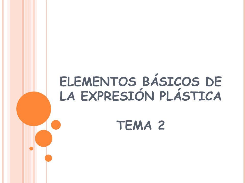 El punto es el elemento de expresión plástica más simple y pequeño.