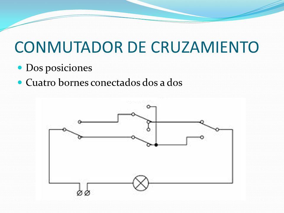 CONMUTADOR DE CRUZAMIENTO Dos posiciones Cuatro bornes conectados dos a dos