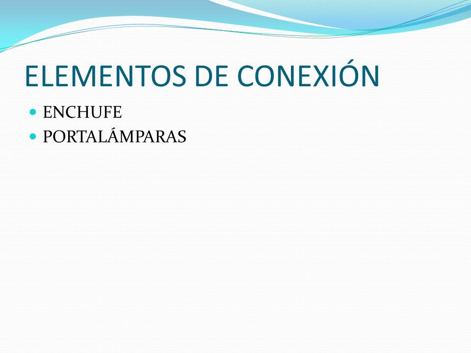 ELEMENTOS DE CONEXIÓN ENCHUFE PORTALÁMPARAS