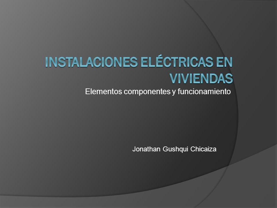 Elementos componentes y funcionamiento Jonathan Gushqui Chicaiza