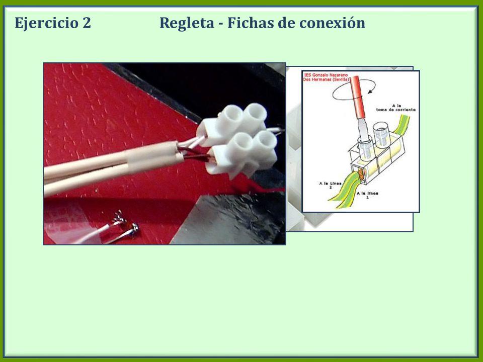 Ejercicio 2Regleta - Fichas de conexión