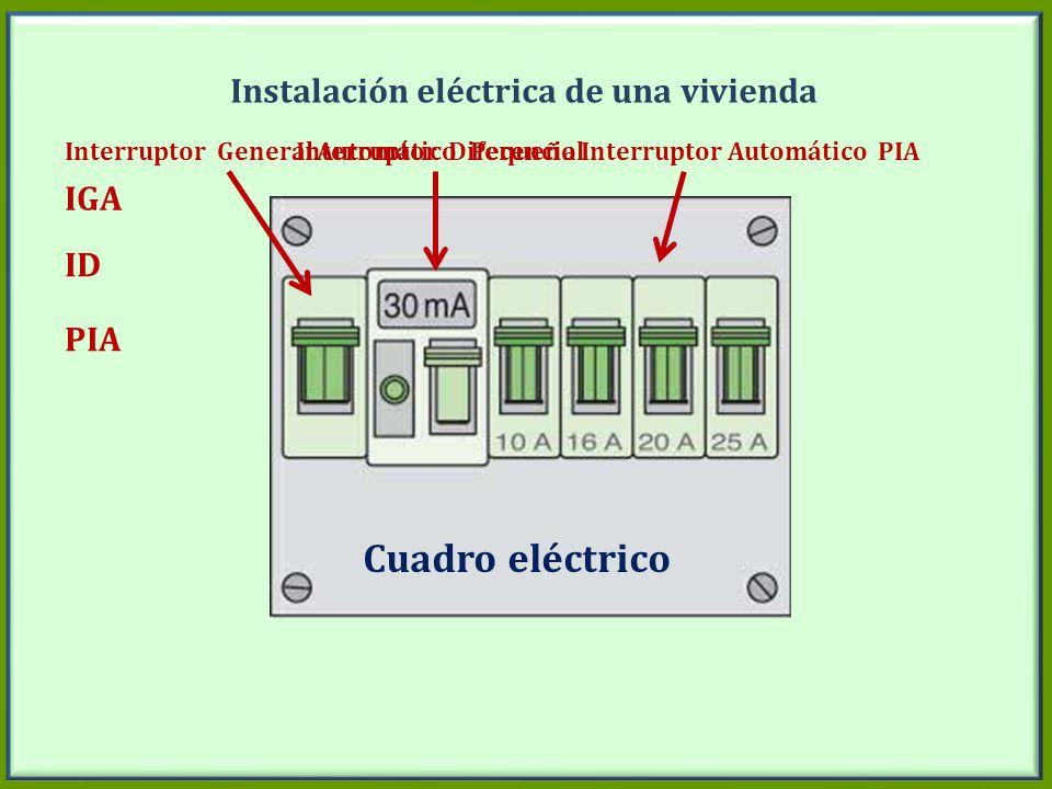 Instalación eléctrica de una vivienda IGA ID PIAs