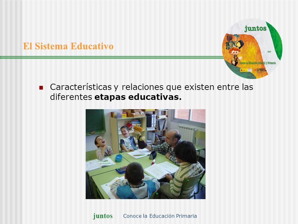 juntos Conoce la Educación Primaria El Sistema Educativo Características y relaciones que existen entre las diferentes etapas educativas.