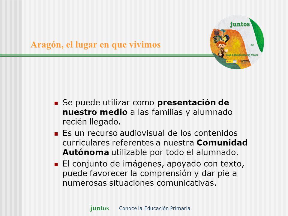 juntos Conoce la Educación Primaria Aragón, el lugar en que vivimos Se puede utilizar como presentación de nuestro medio a las familias y alumnado rec