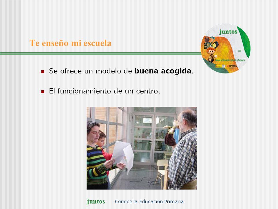 juntos Conoce la Educación Primaria Un día en clase Una clase de español Un rato en el recreo Las rutinas escolares.