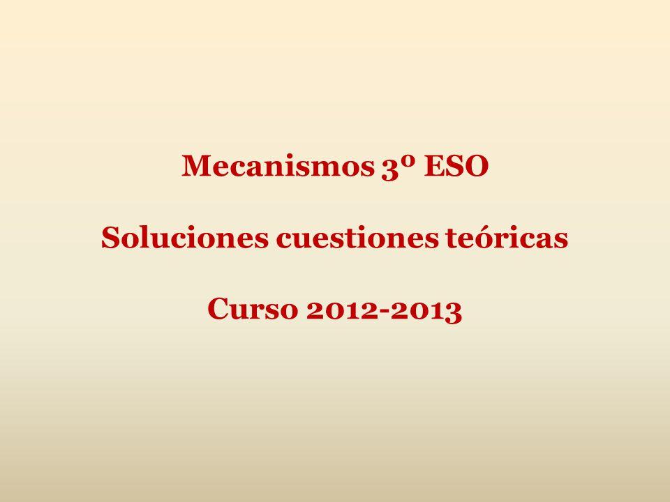 Mecanismos 3º ESO Soluciones cuestiones teóricas Curso 2012-2013