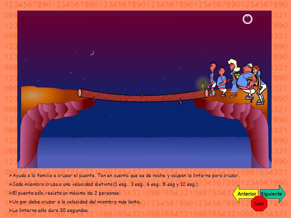 Ayuda a la familia a cruzar el puente.