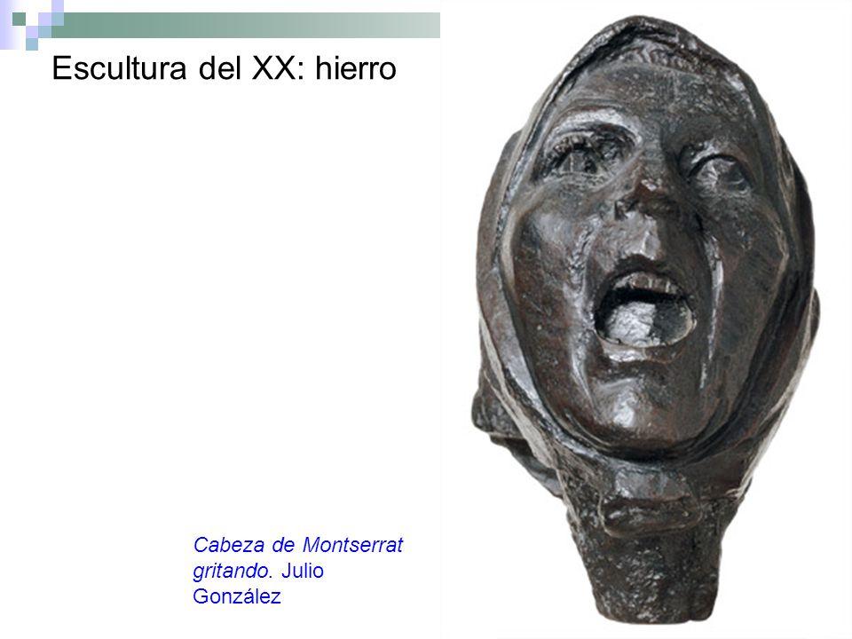 Escultura del XX: hierro Cabeza de Montserrat gritando. Julio González