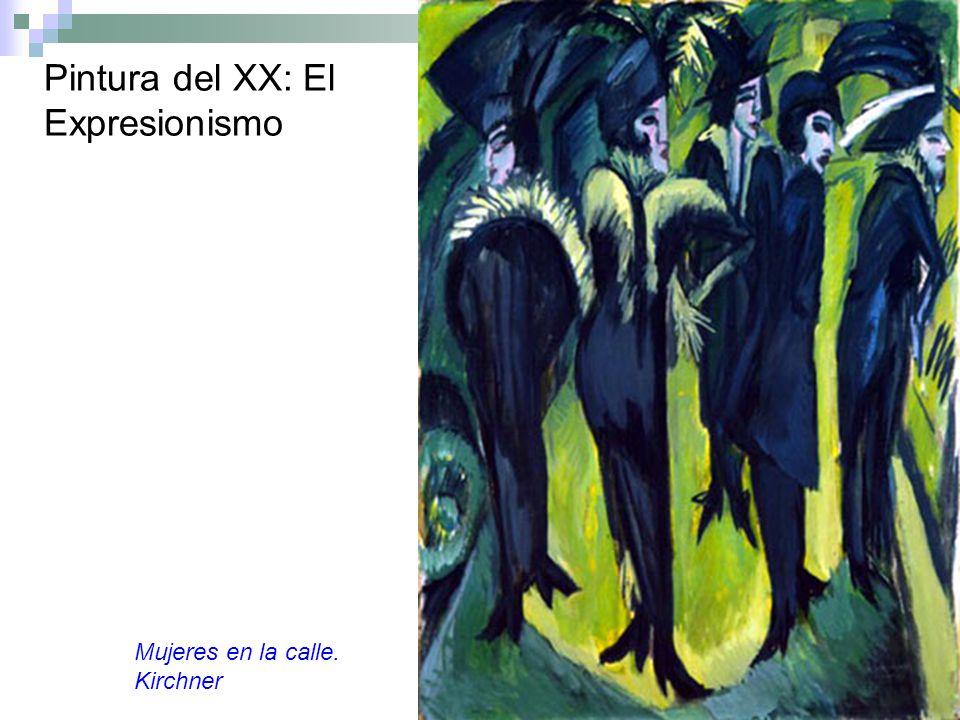 Pintura del XX: El Expresionismo Mujeres en la calle. Kirchner