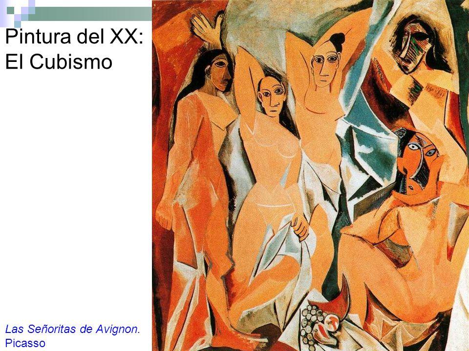 Pintura del XX: El Cubismo Las Señoritas de Avignon. Picasso