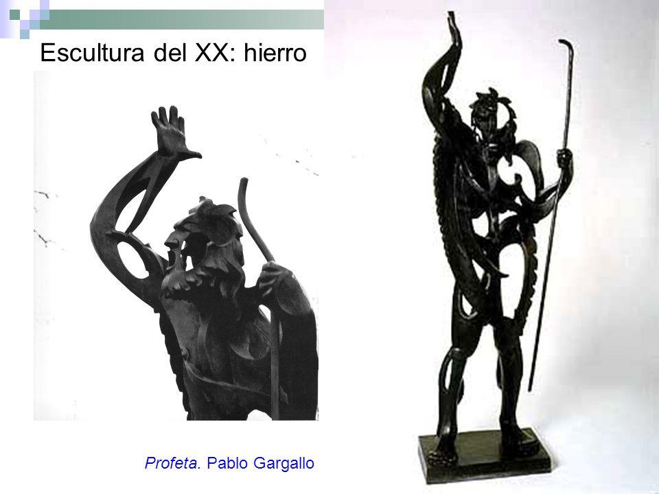 Escultura del XX: hierro Profeta. Pablo Gargallo