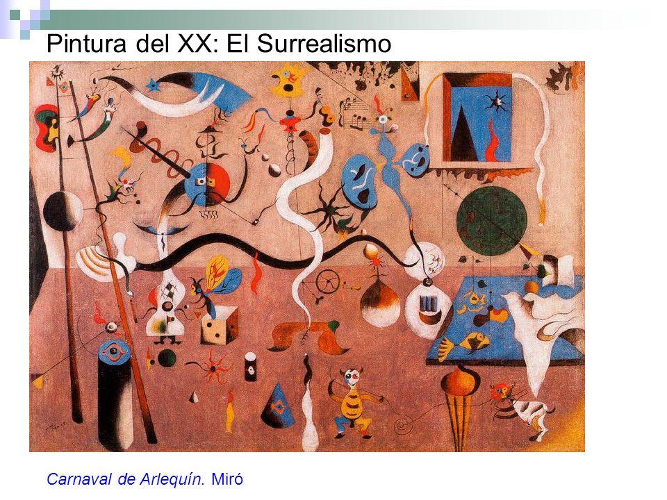 Pintura del XX: El Surrealismo Carnaval de Arlequín. Miró