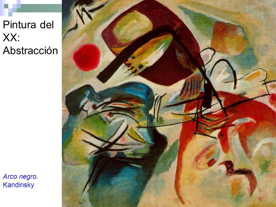 Pintura del XX: Abstracción Arco negro. Kandinsky