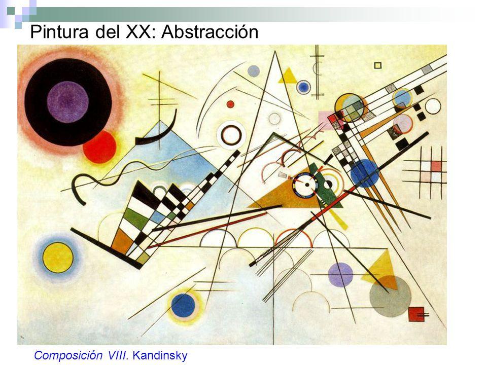 Pintura del XX: Abstracción Composición VIII. Kandinsky