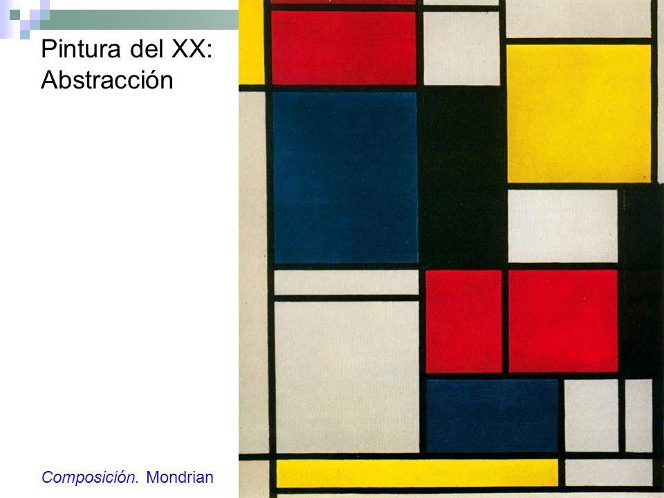 Pintura del XX: Abstracción Composición. Mondrian