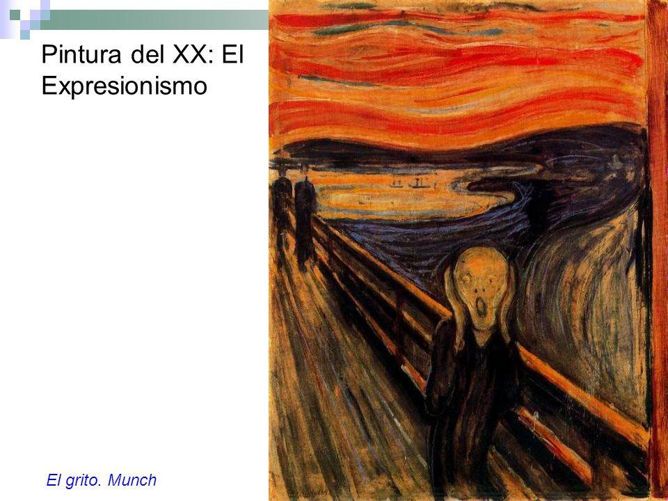 Pintura del XX: El Expresionismo El grito. Munch