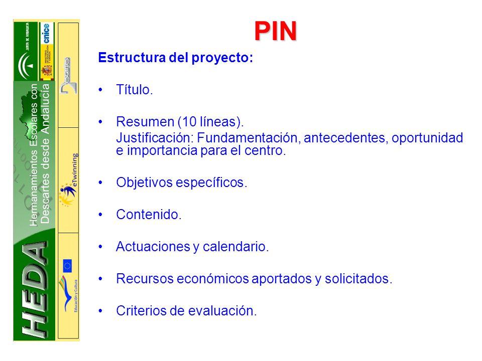 PIV Documentación: Proyecto (duración máxima dos años) Resumen de las experiencias investigadoras del profesorado participante en el proyecto.