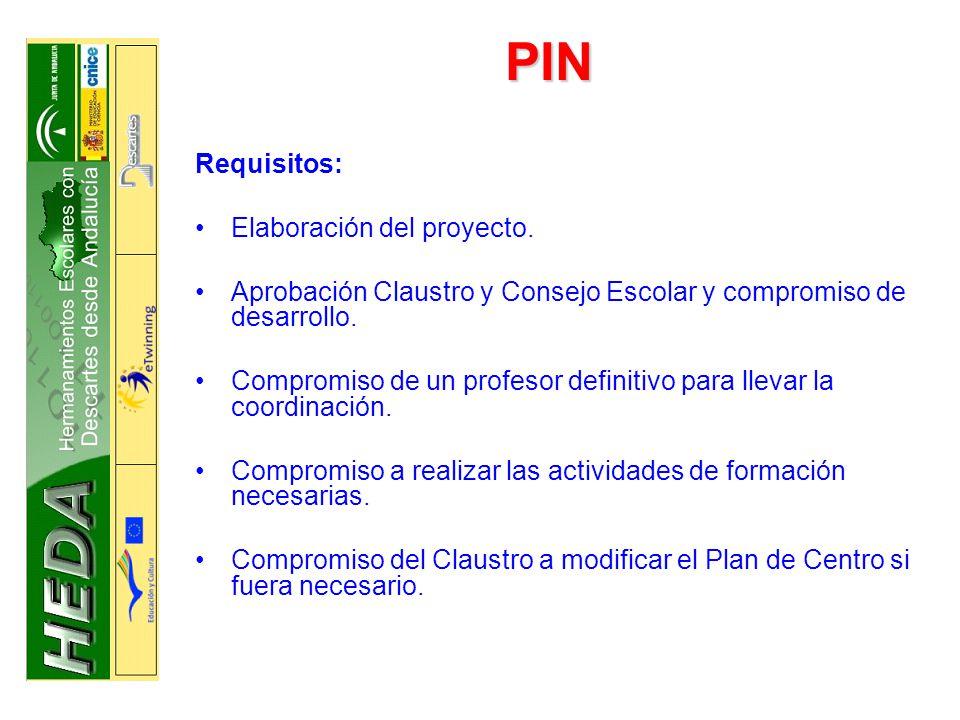 PIN Requisitos: Elaboración del proyecto.