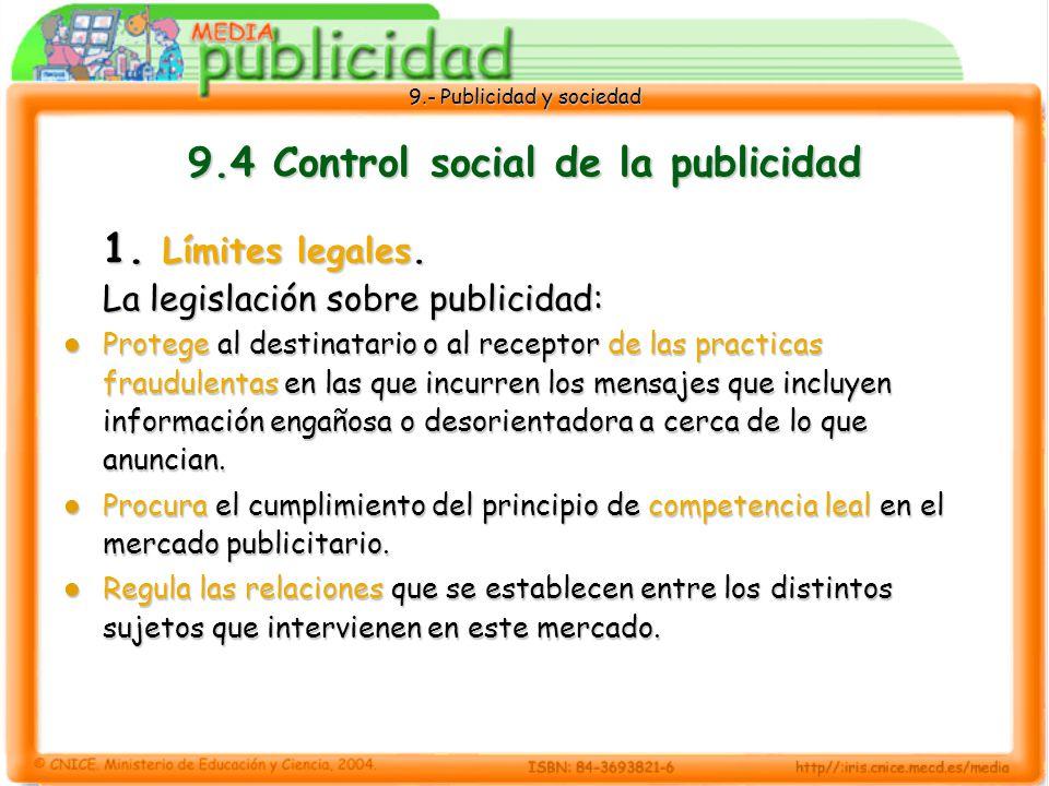 9.- Publicidad y sociedad 9.4 Control social de la publicidad 1.