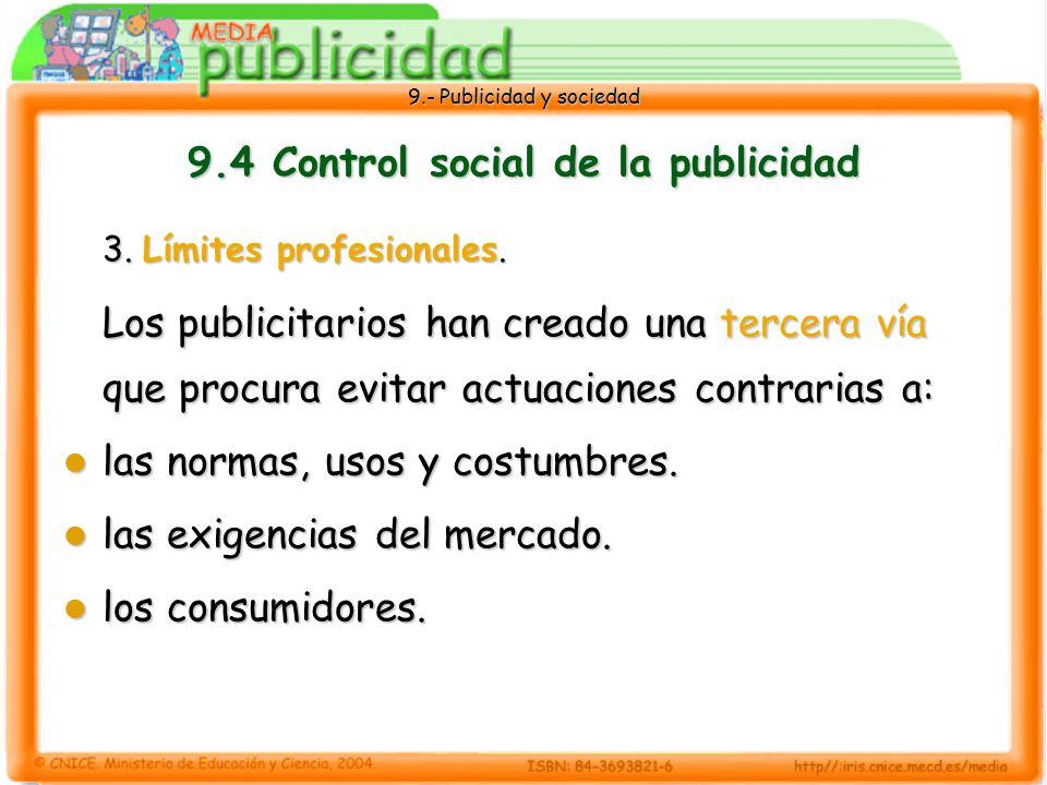 9.- Publicidad y sociedad 9.4 Control social de la publicidad 3.