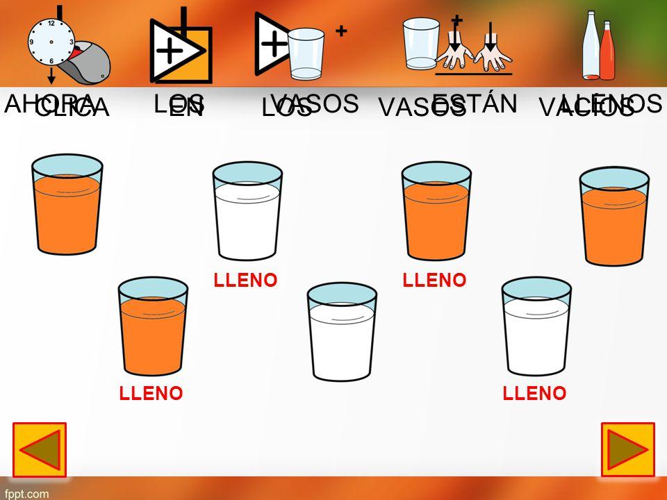 CLICA EN EL PLATO VACÍO AHORA LOS PLATOS ESTÁN LLENOS +