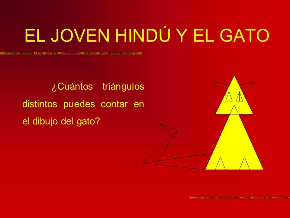 EL JOVEN HINDÚ Y EL GATO ¿Cuántos triángulos distintos puedes contar en el dibujo del gato?