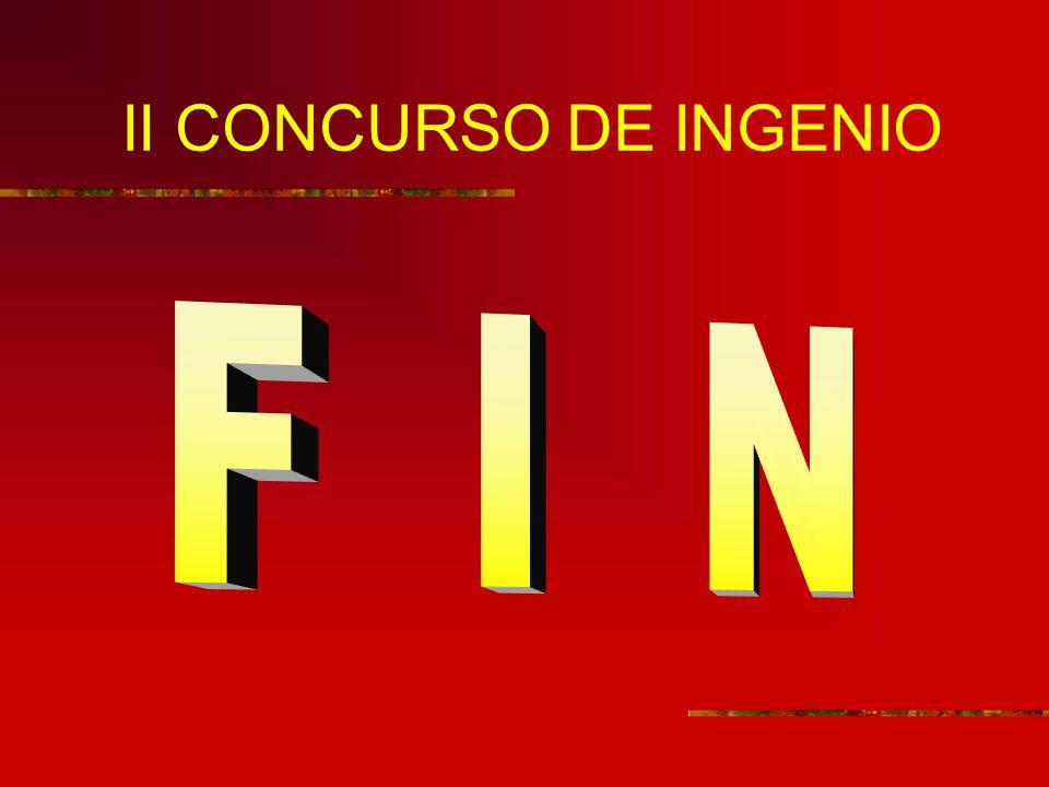 II CONCURSO DE INGENIO